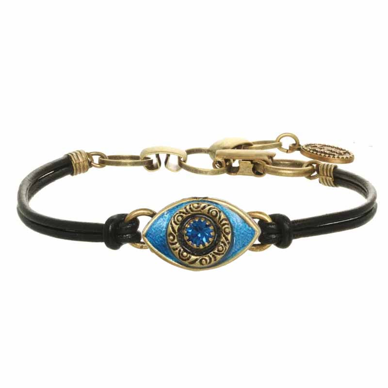 Mini Deep Blue and Gold Evil Eye Bracelet
