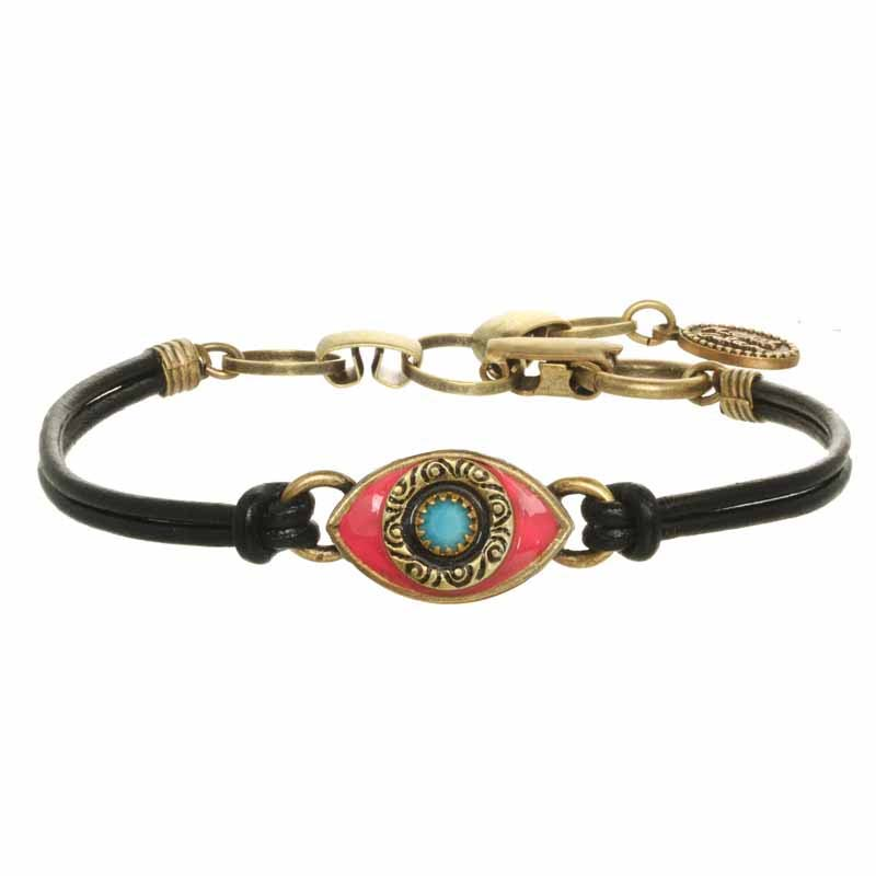 Mini Magenta and Turquoise Evil Eye Bracelet