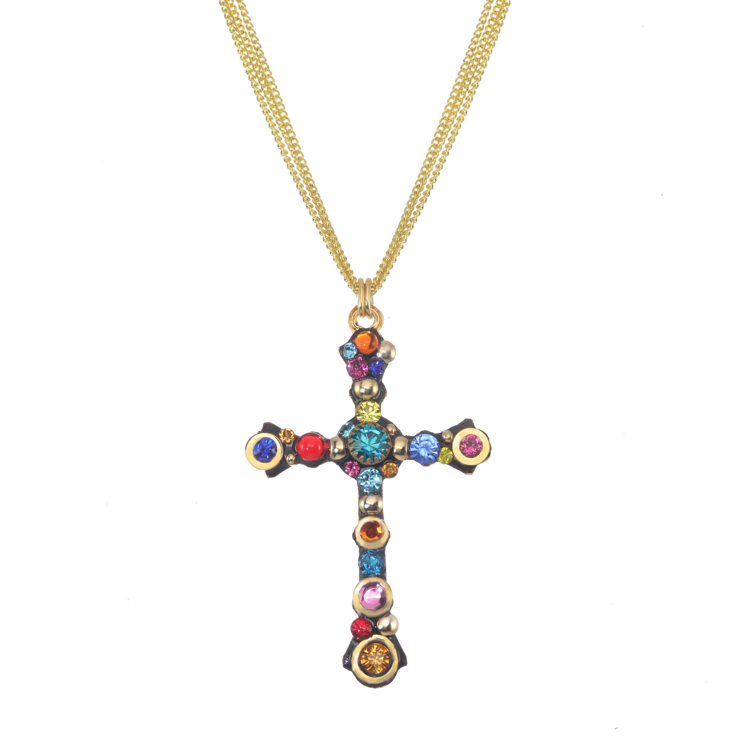 Cosmic Cross Necklace
