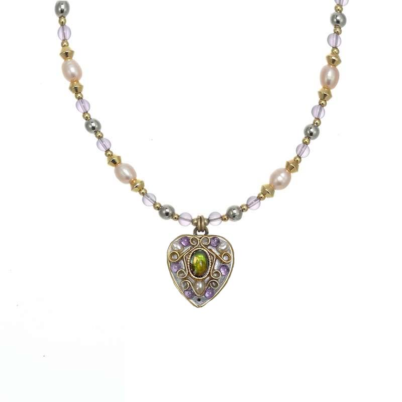 Amethyst Small Heart Necklace
