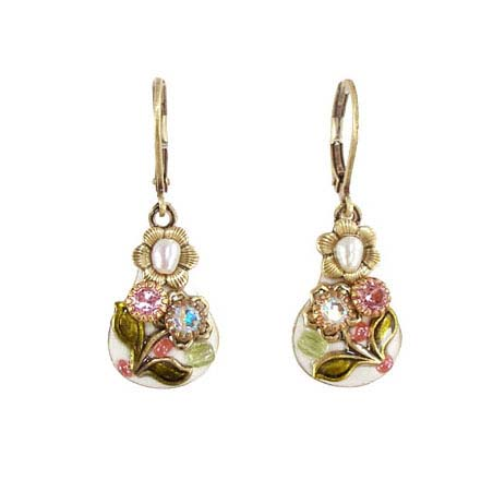 Pearl Blossom Drop Earrings