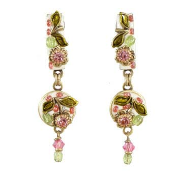 Pearl Blossom Large Dangling Earrings