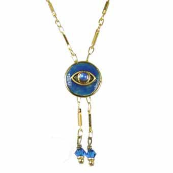 Dark Blue Eye Circle Necklace