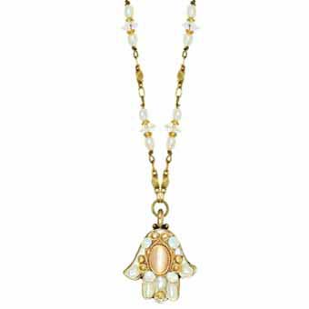 Mother of Pearl Small Hamsa Necklace