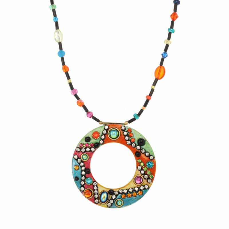 Mosaic Open Circle Necklace