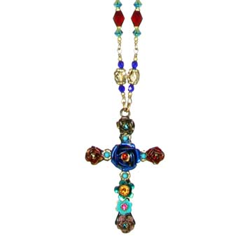 Eden Long Cross Necklace