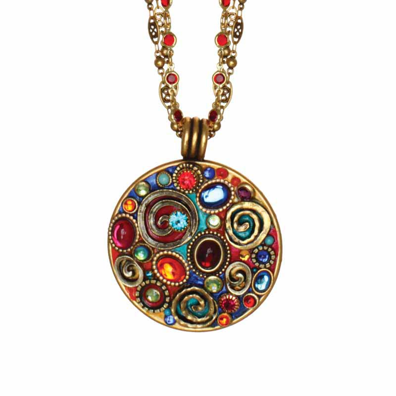 Confetti Large Round Pendant Necklace