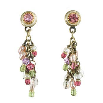 Pearl Blossom Charm Earrings