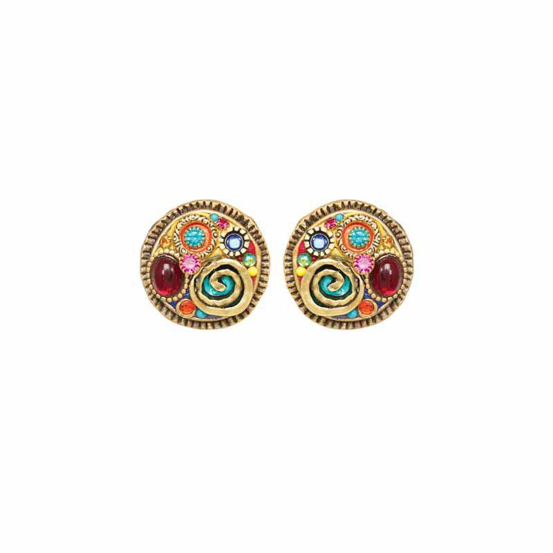 Confetti Large Circle Earrings