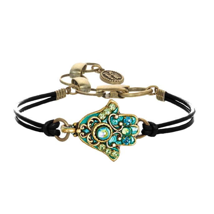 Glowing Green Hamsa Bracelet