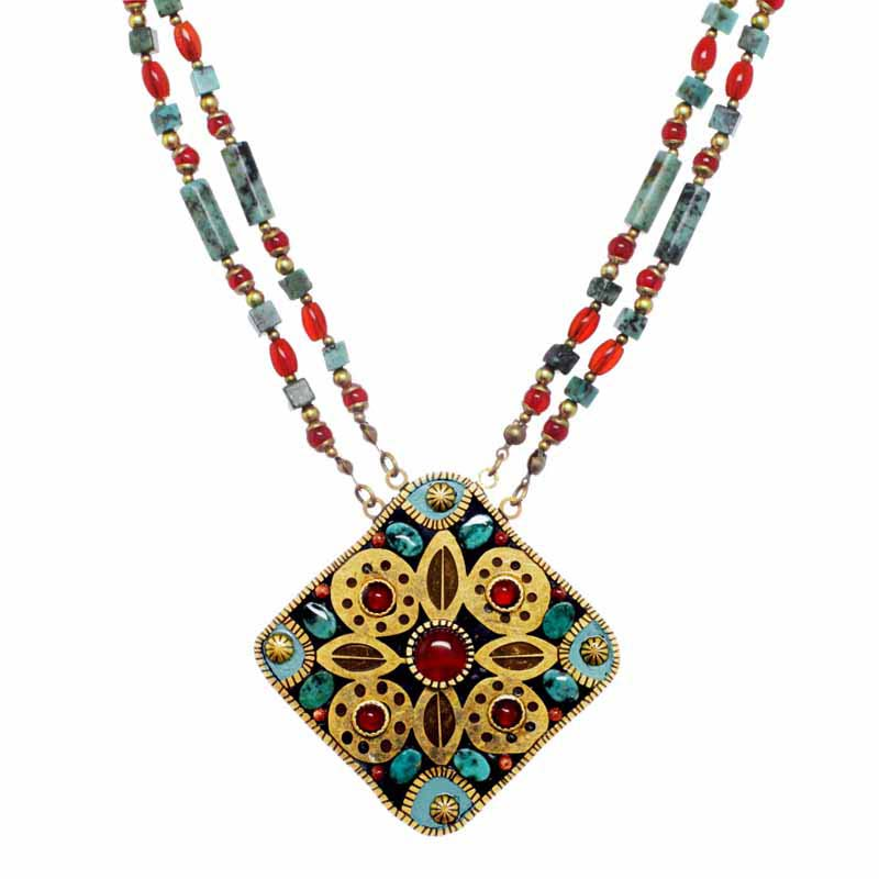 Earth Flower Statement Necklace