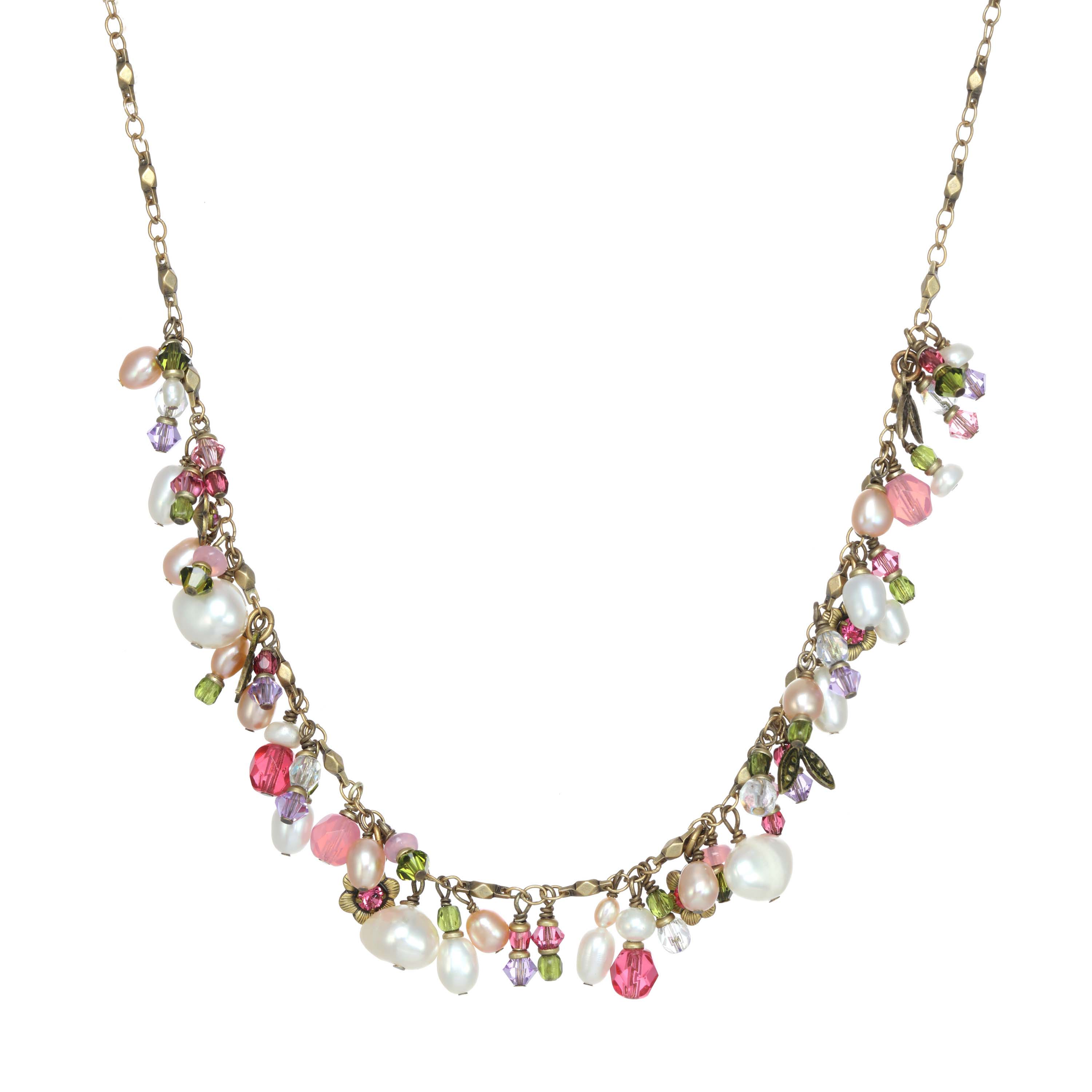 Pearl Blossom Charm Necklace