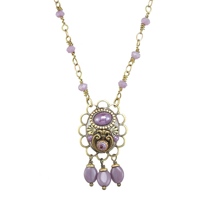 Lilac Dangling Necklace