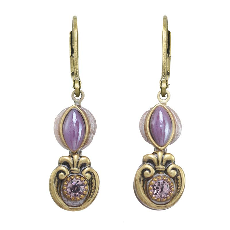 Lilac Small Double Circle Earrings