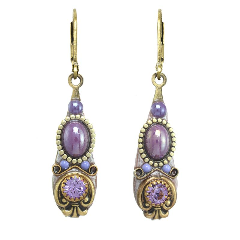 Lilac Drop Earrings