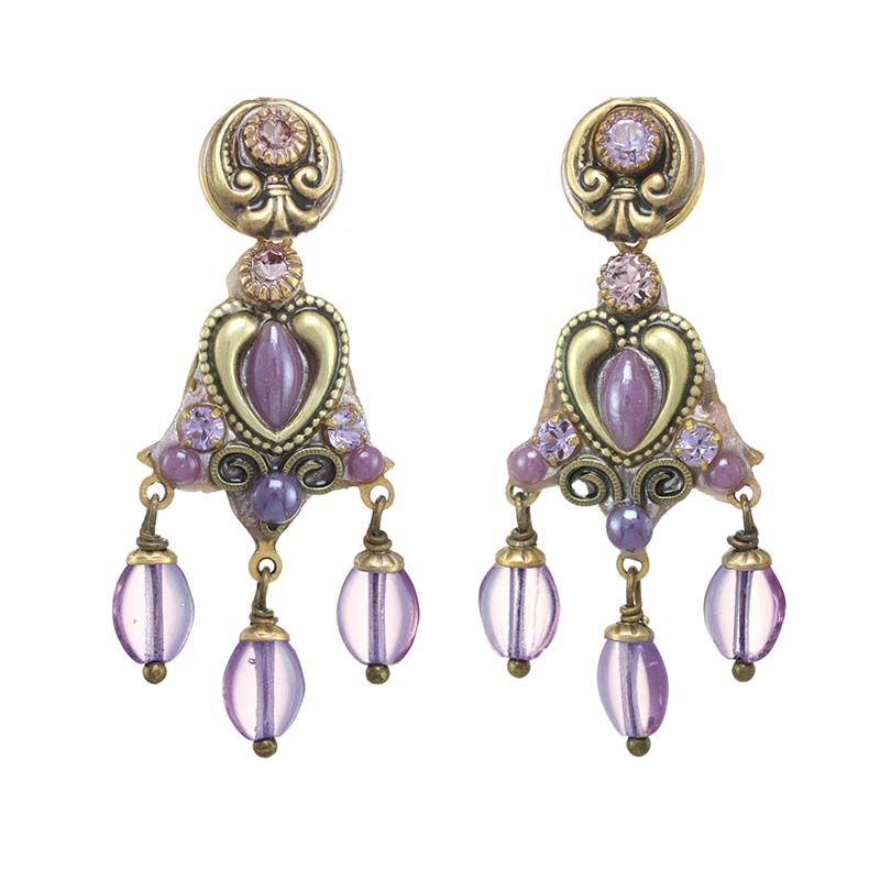 Lilac Chandelier Earrings