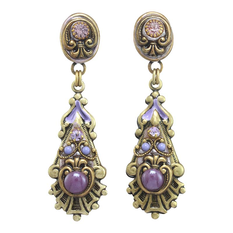 Lilac Long Post Earrings