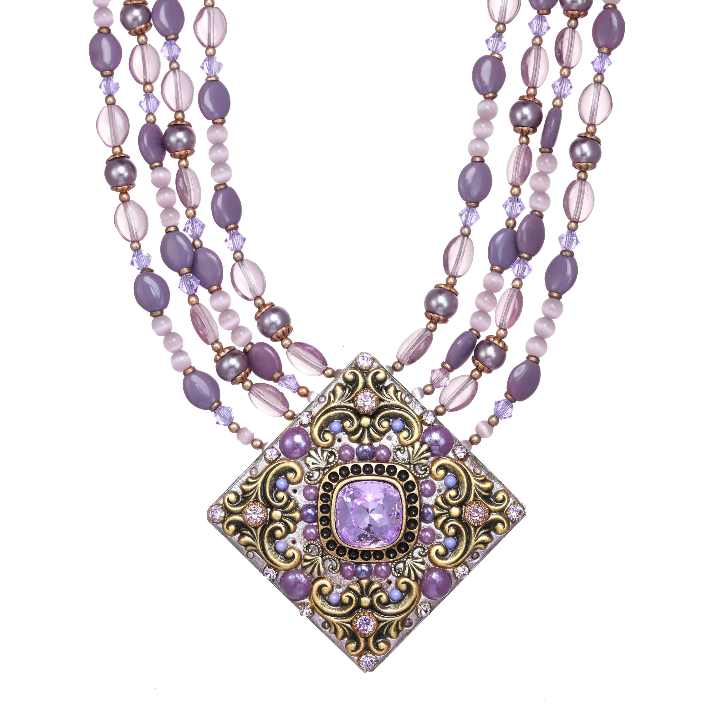 Lilac Large Diamond Necklace