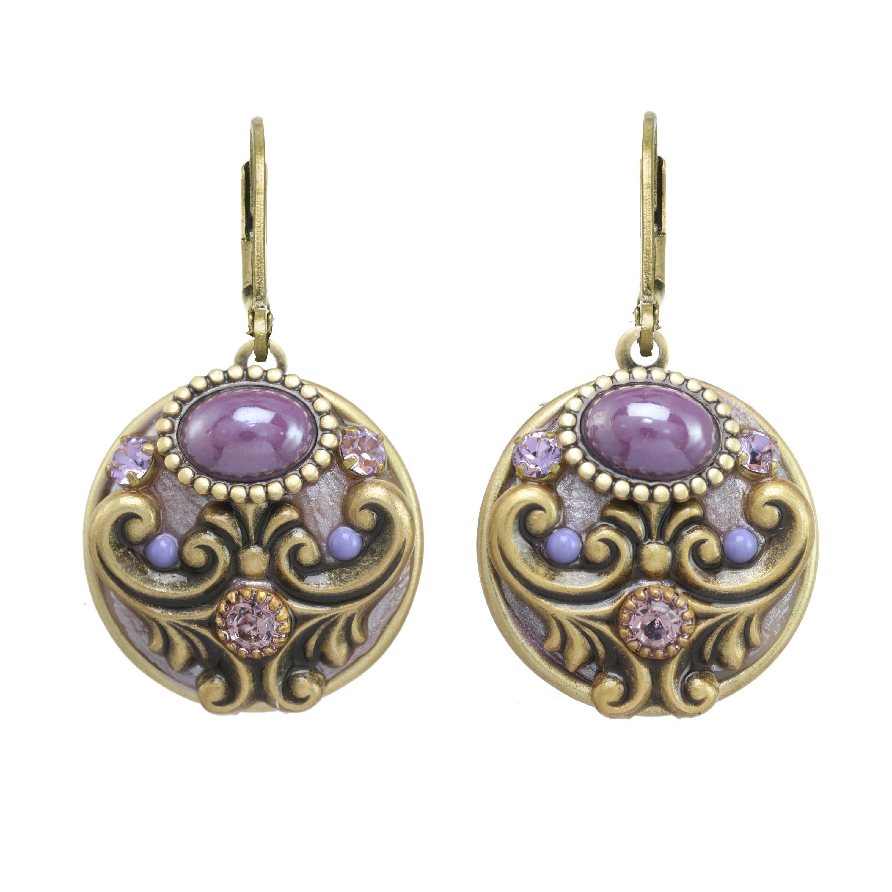 Lilac Round Earrings
