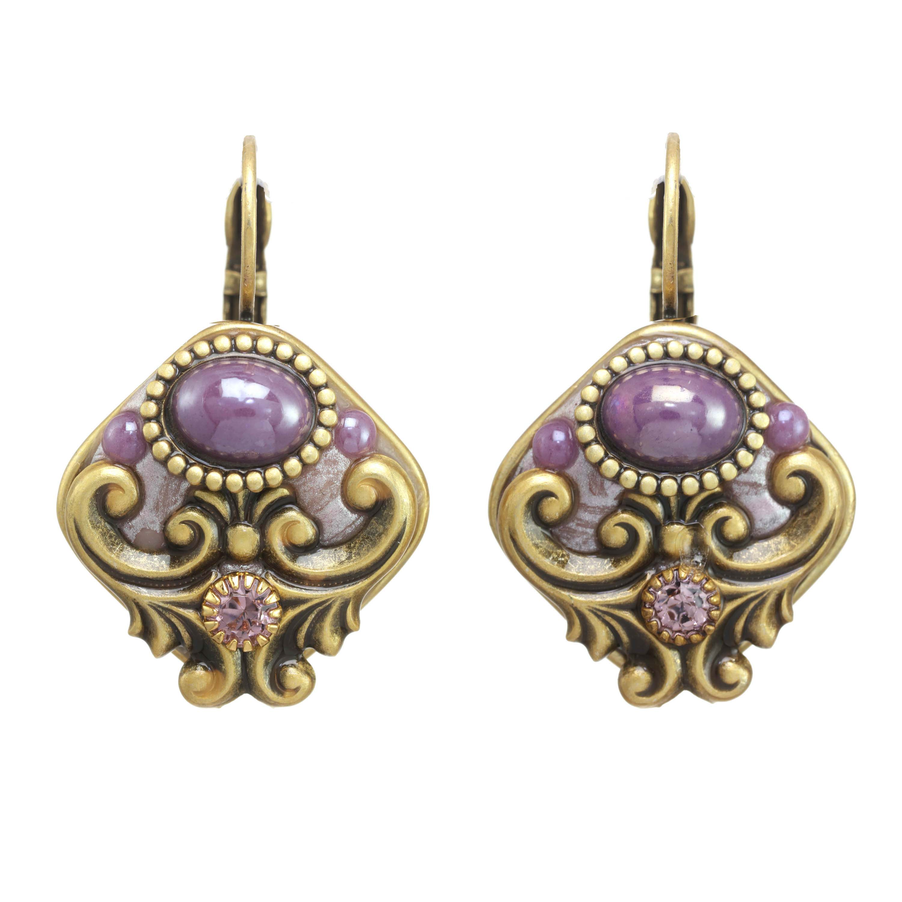 Lilac Rounded Diamond Earrings
