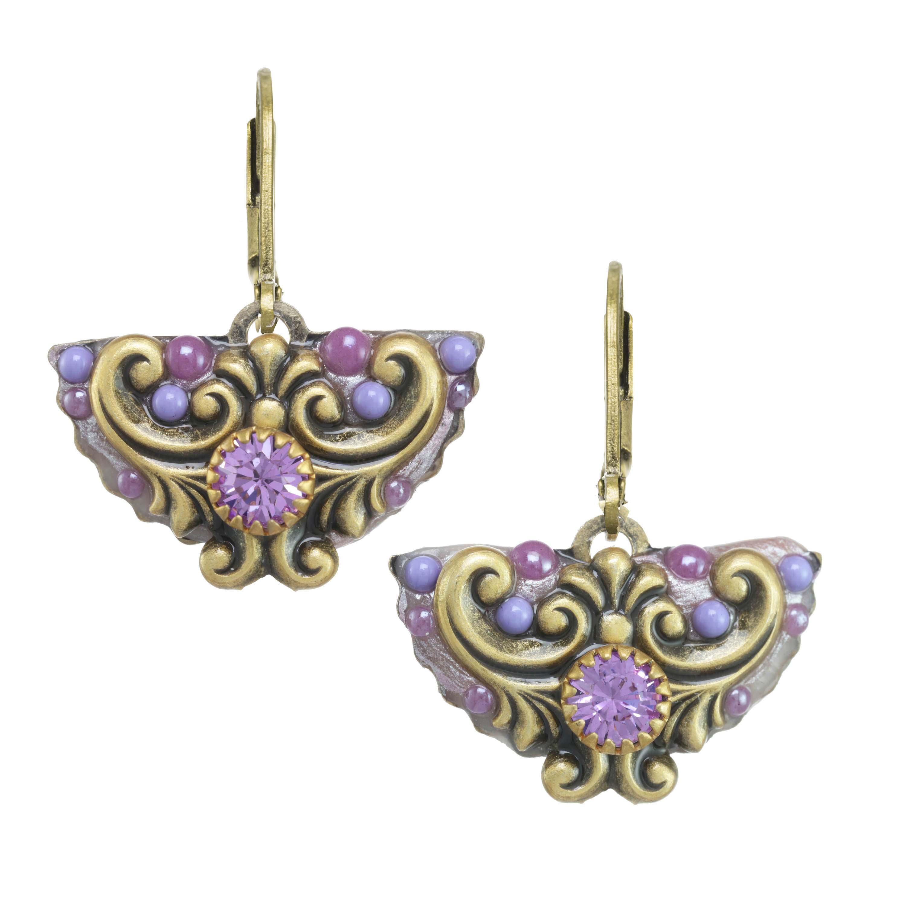 Lilac Crescent Earrings