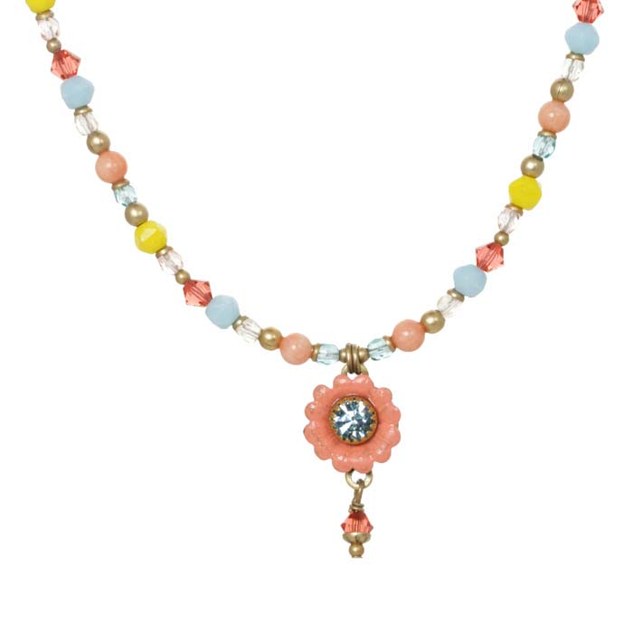 Small Pastel Floral Necklace