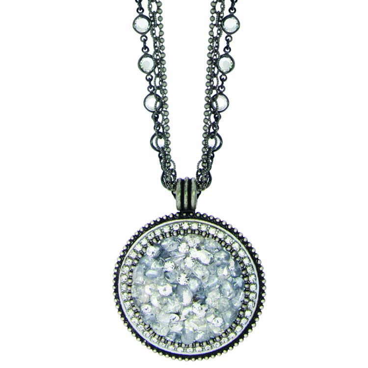 Icy Dreams Large Circle Necklace