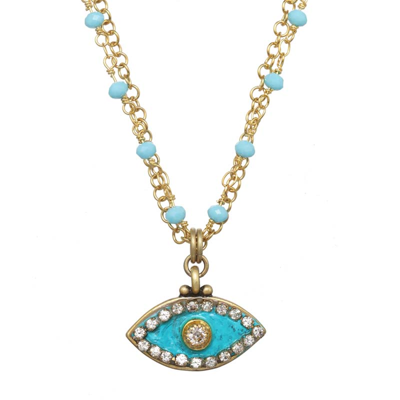 Aquamarine Eye Necklace