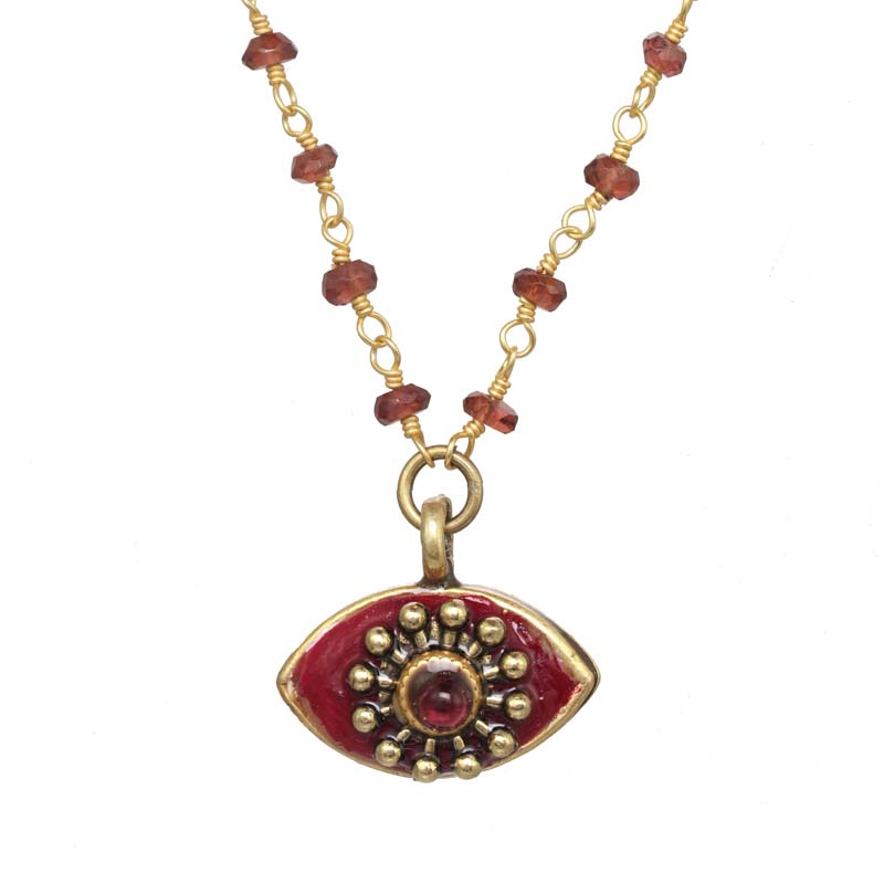 Garnet Eye Necklace