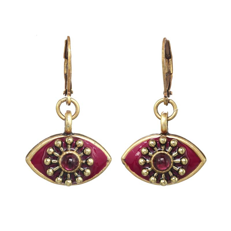 Garnet Eye Earrings