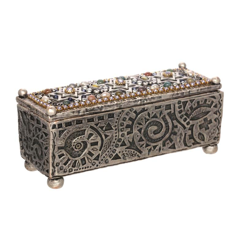 Silver Judaica Jewelry Box