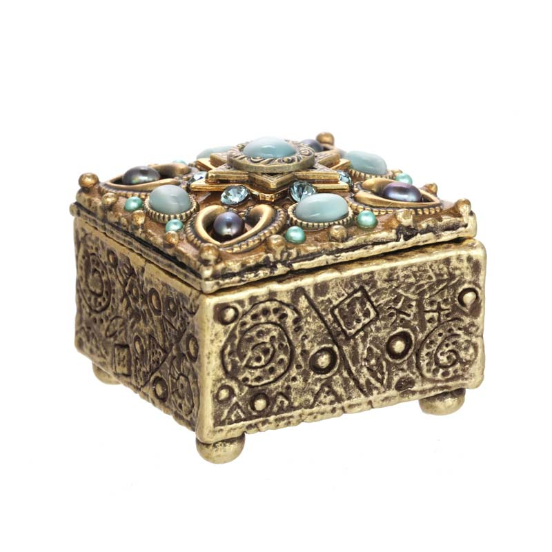 Sky Blue Star of David Jewelry Box