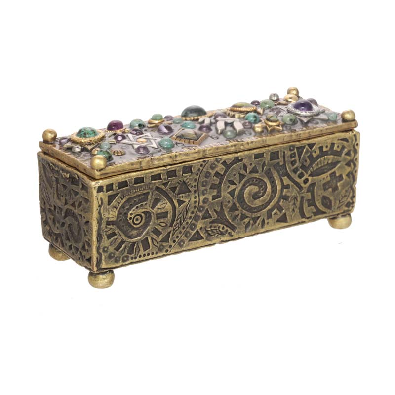 Gemstone Judaica Jewelry Box
