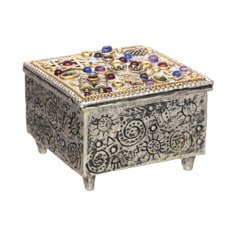 Multicolor Judaica Jewelry Box