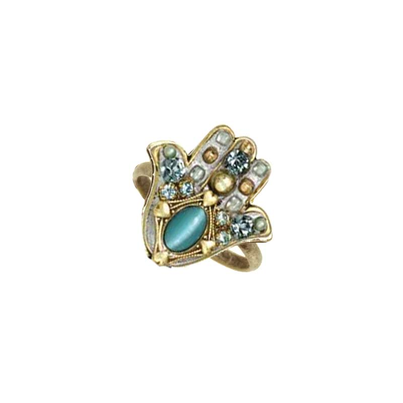 Cat's Eye Hamsa Ring I
