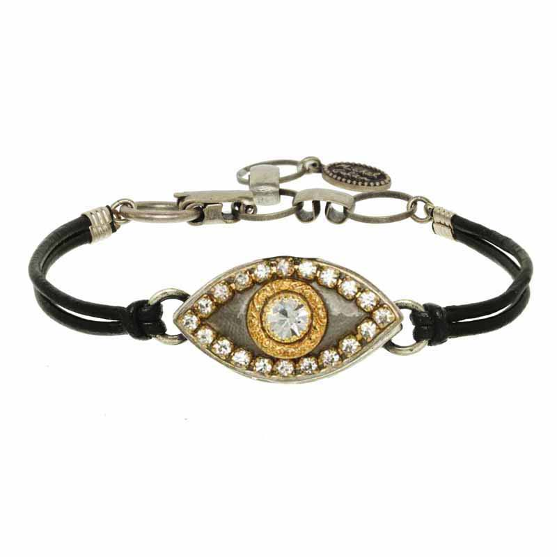 Silver and Gold Evil Eye Bracelet