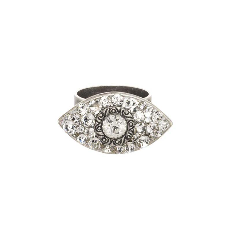 Dazzling Clear Eye Ring