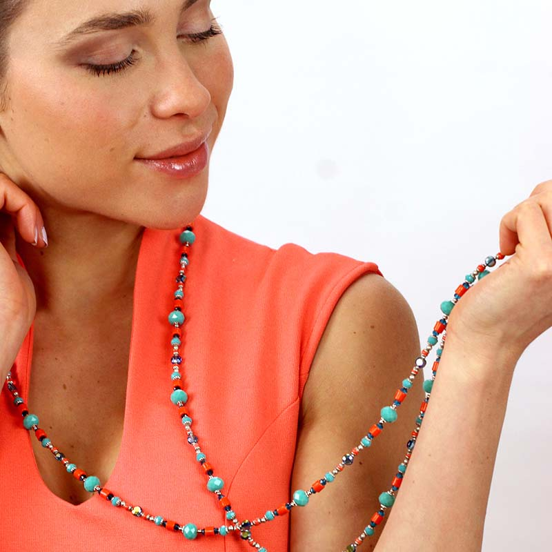 Aruba Long Beaded Necklace