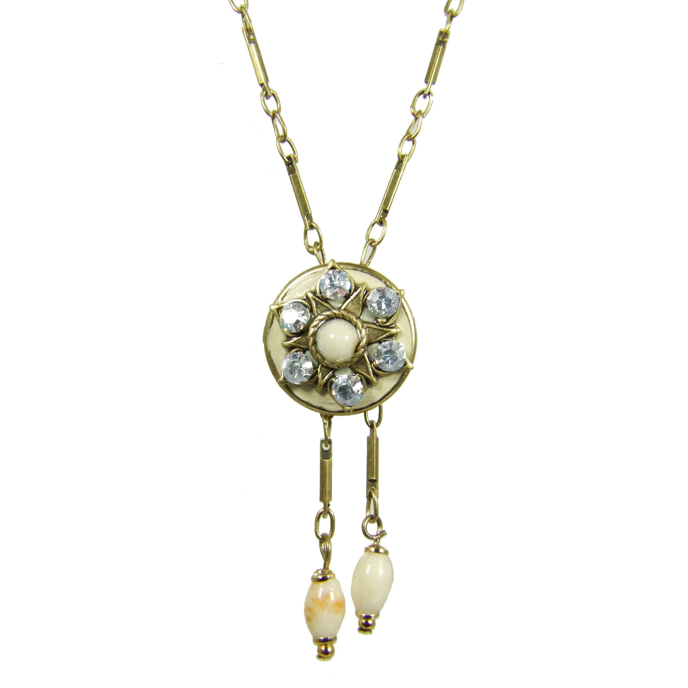 Riverstone Circle Dangling Necklace