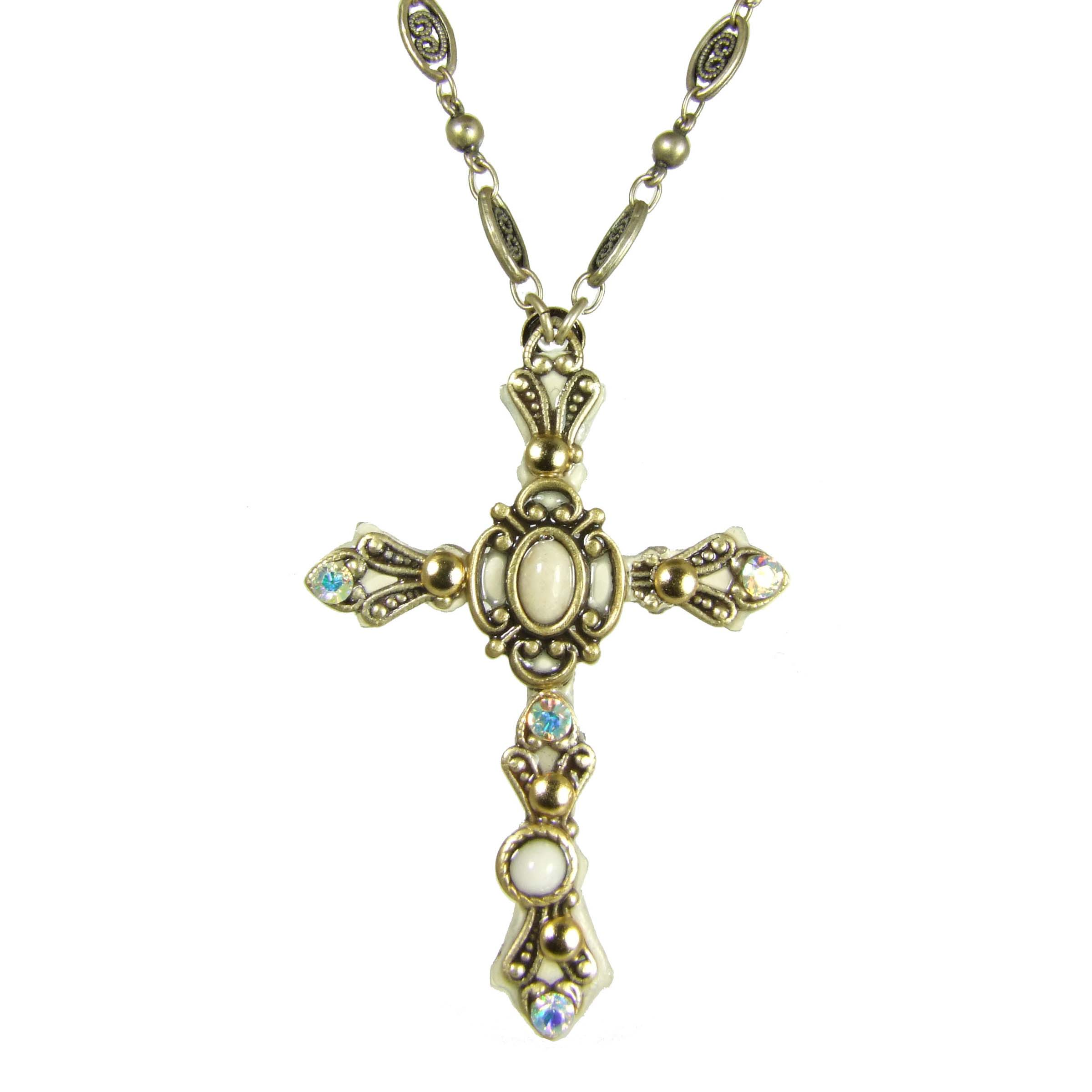 Riverstone Cross Necklace