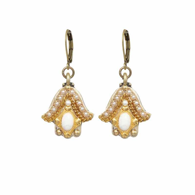 Winter Wonderland Hamsa Earrings
