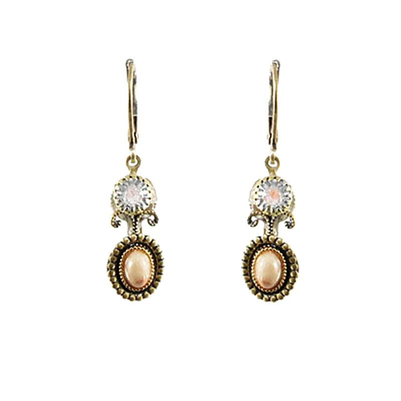 Riverstone Double Circle Earrings