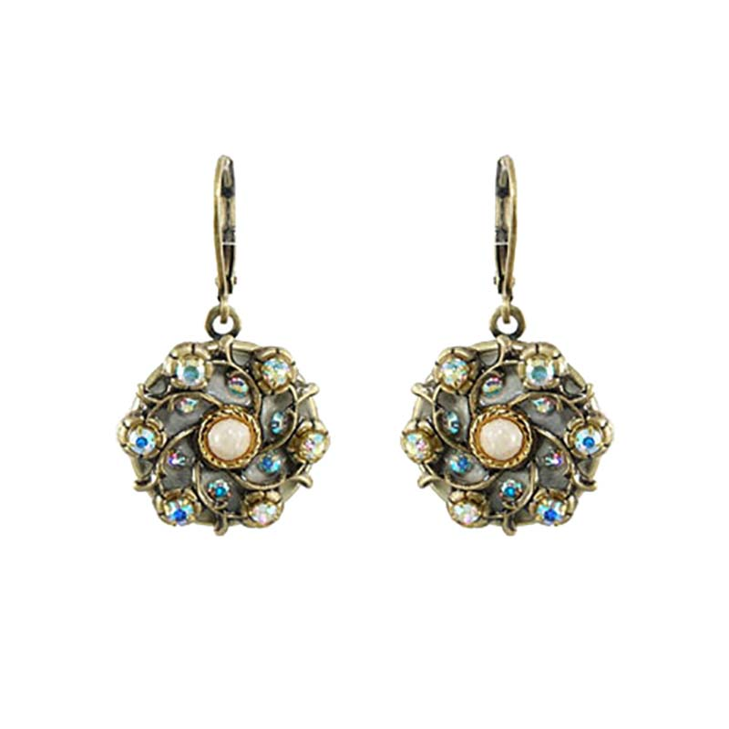 Riverstone Circle Lever Earrings