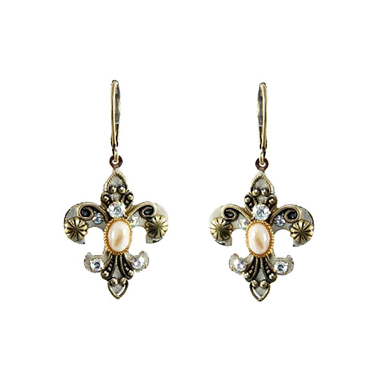 Riverstone Fleur De Lis Earrings