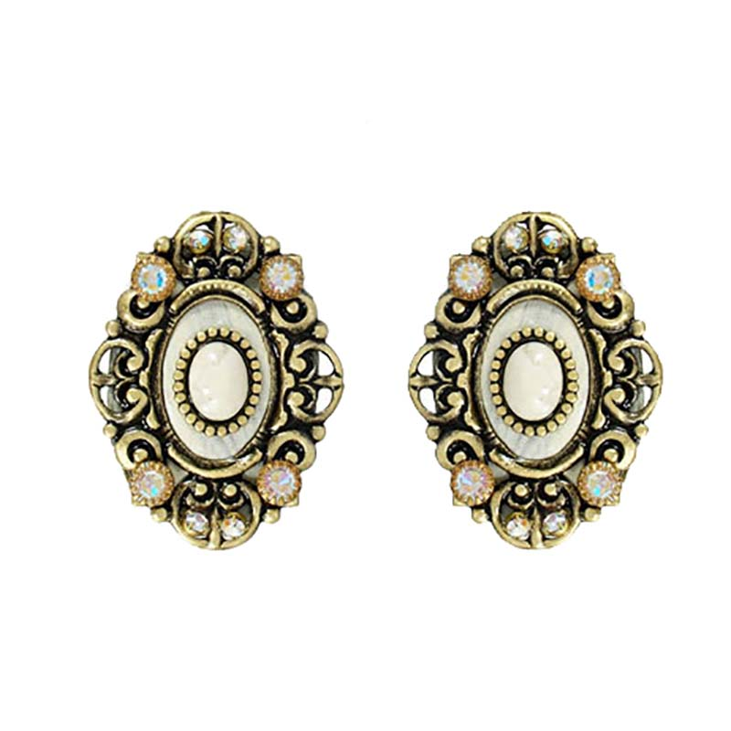 Riverstone Oval Earrings