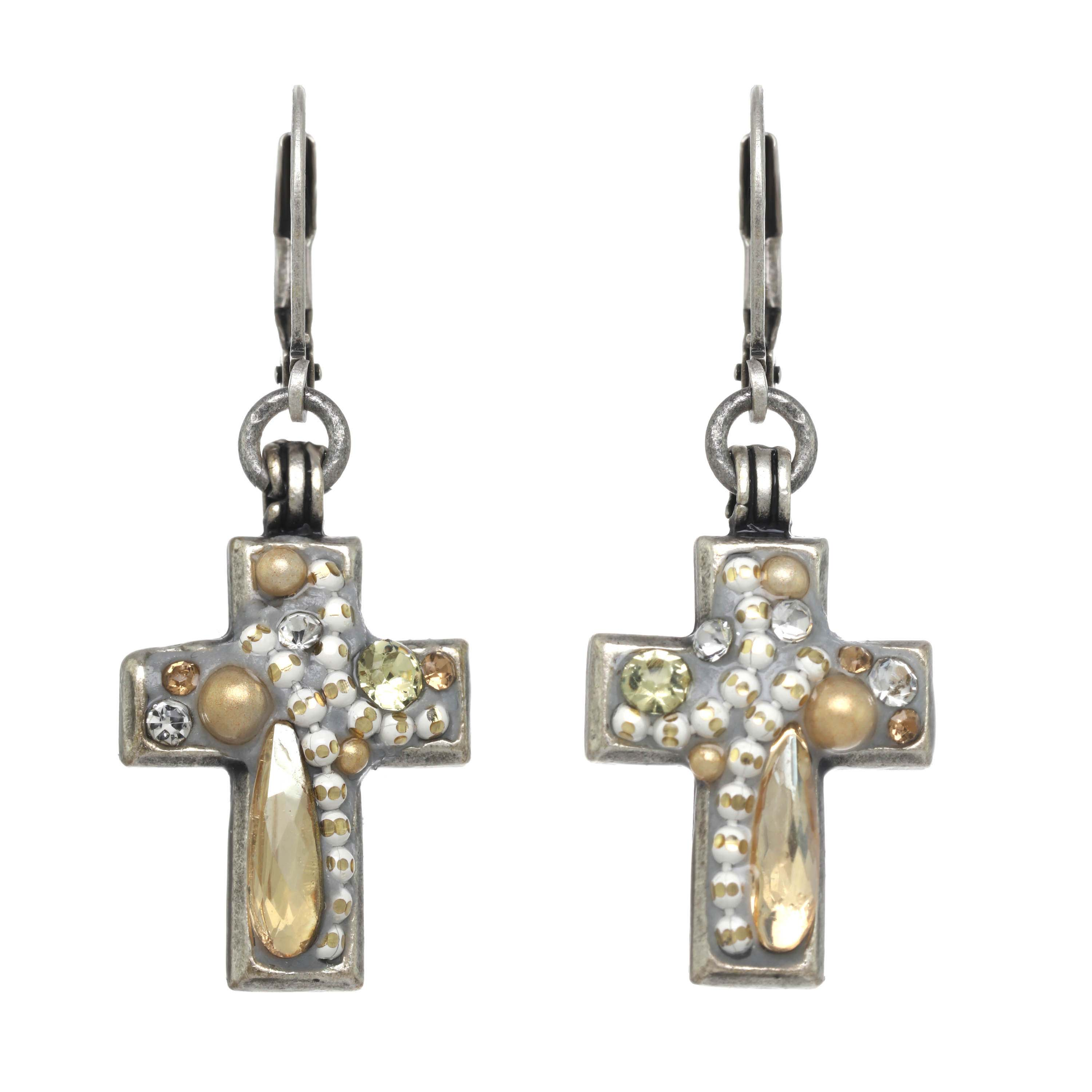 Moonlight Cross Earrings
