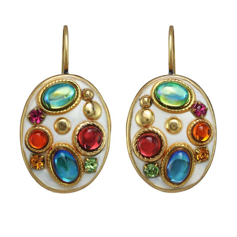 Aurora Oval Earrings