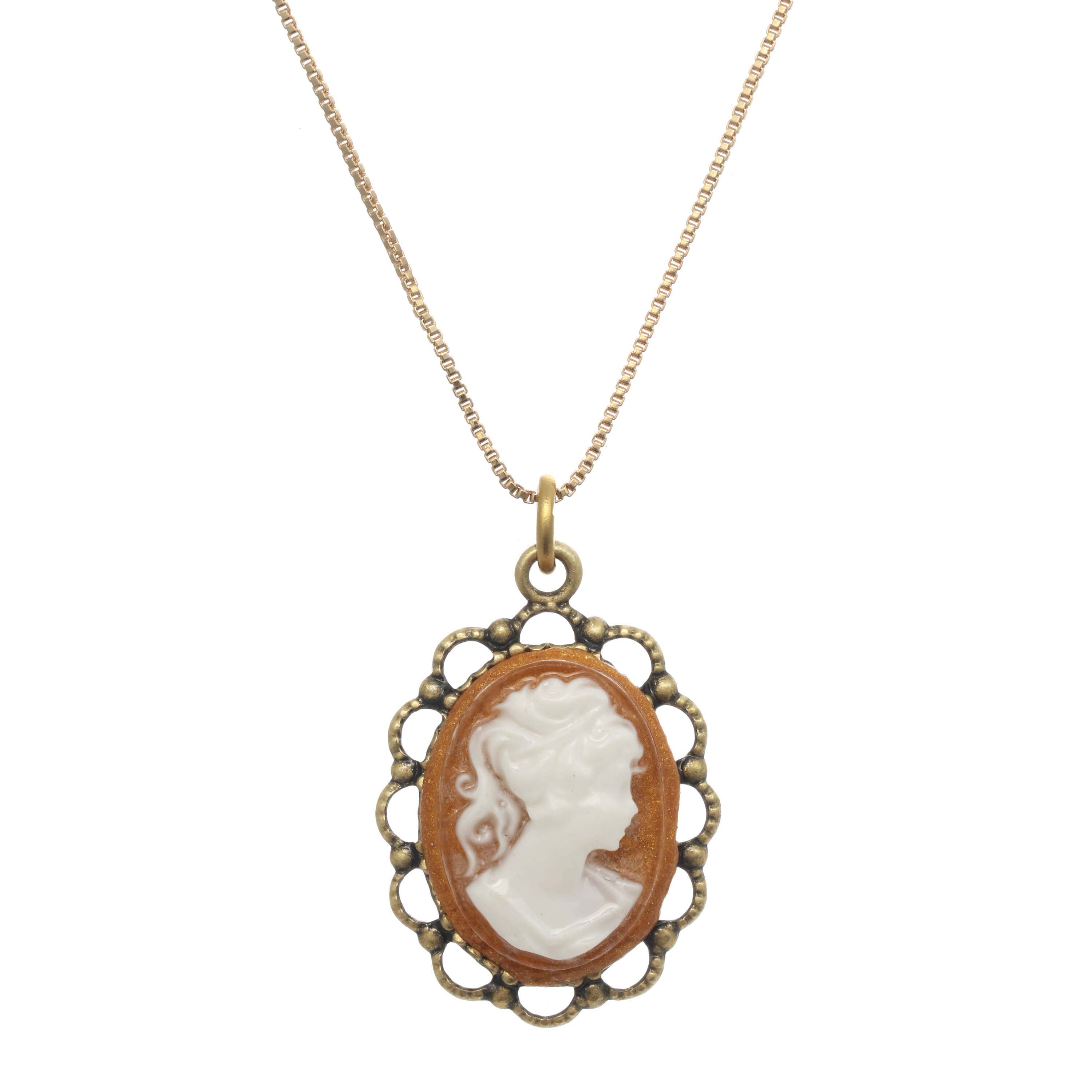 Tiny German Cameo Necklace