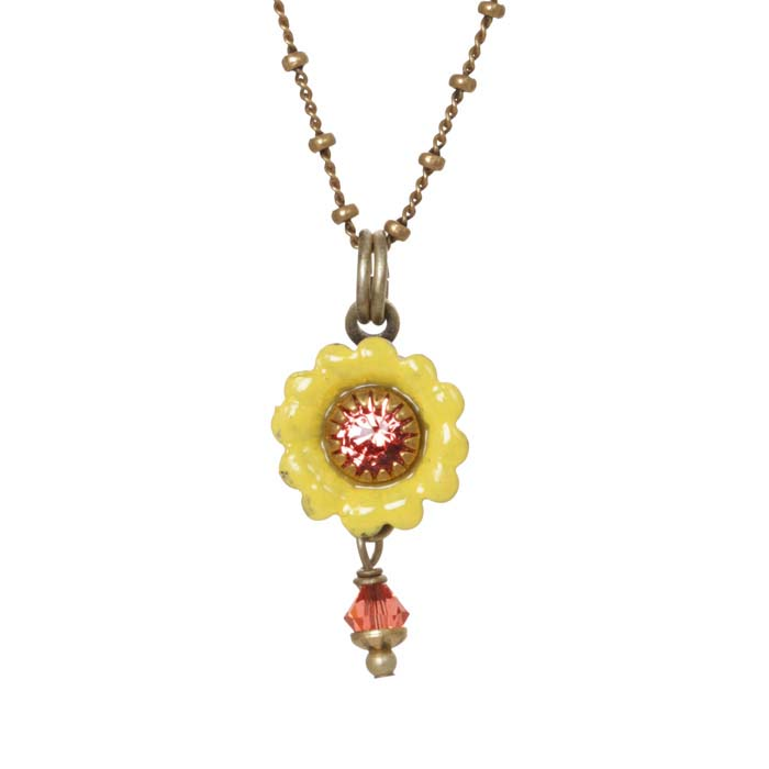 Tiny Yellow Flower Necklace