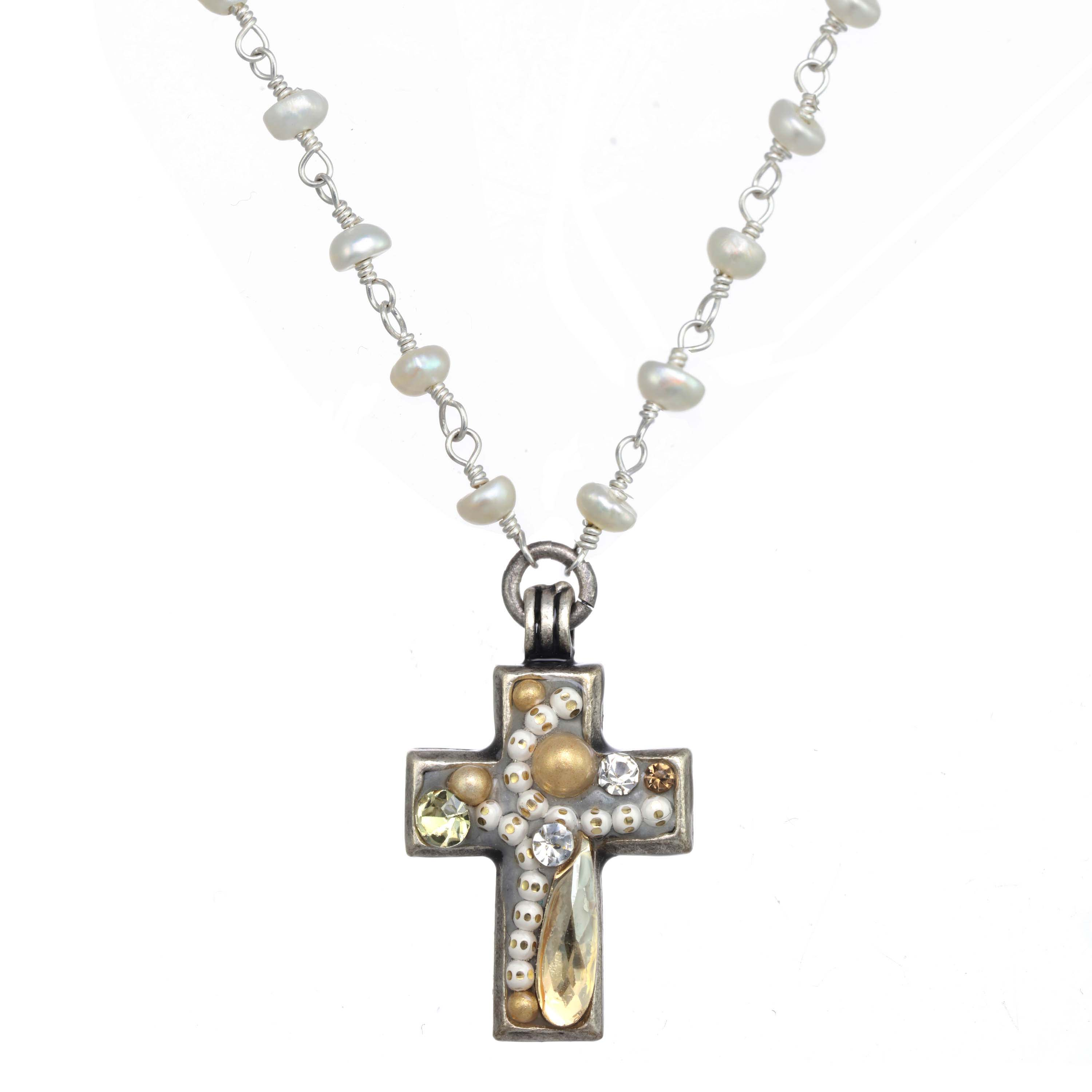 Moonlight Cross Necklace